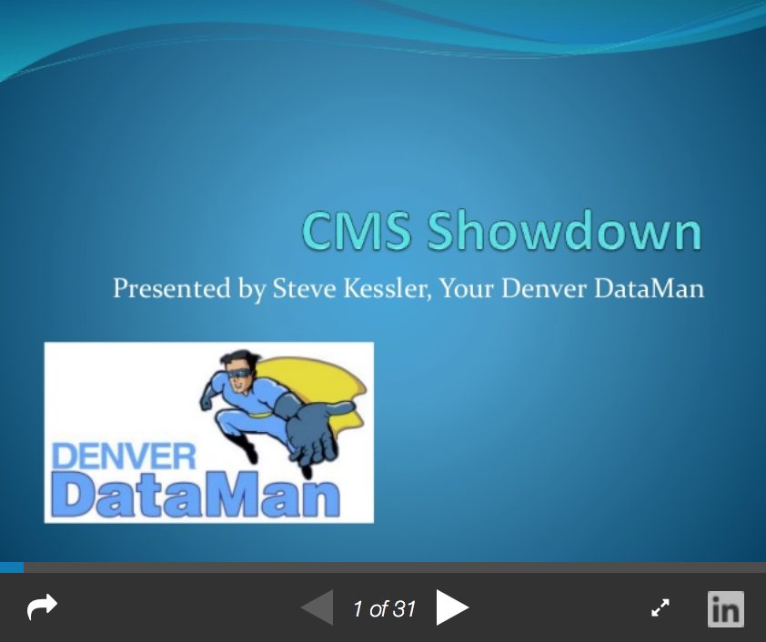 CMS Showdown Preview From Slideshare